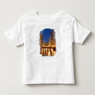 Chicago, Illinois, Skyline and Chicago River at Toddler T-Shirt