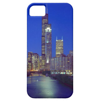 Chicago, Illinois, Skyline at night with Chicago iPhone 5 Covers