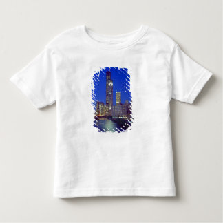 Chicago, Illinois, Skyline at night with Chicago Toddler T-Shirt