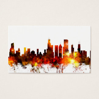 Chicago Illinois Skyline Business Card