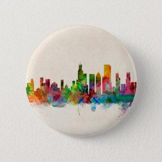Chicago Illinois Skyline Cityscape 6 Cm Round Badge