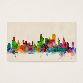 Chicago Illinois Skyline Cityscape Business Card