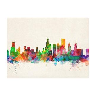 Chicago Illinois Skyline Cityscape Canvas Print