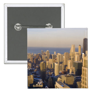 Chicago, Illinois, Skyline from the Sears Tower 15 Cm Square Badge