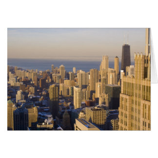 Chicago, Illinois, Skyline from the Sears Tower Card