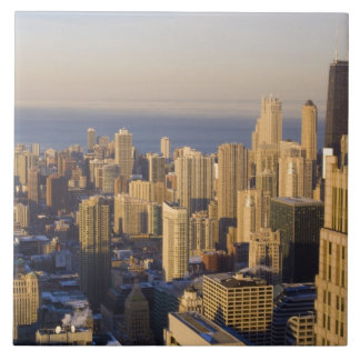 Chicago, Illinois, Skyline from the Sears Tower Large Square Tile