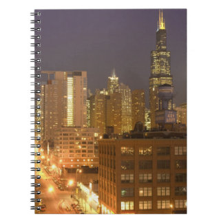 Chicago, Illinois, Skyline from West Loop at Notebooks