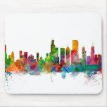 Chicago Illinois Skyline Mouse Pad