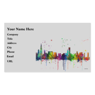 CHICAGO, ILLINOIS SKYLINE PACK OF STANDARD BUSINESS CARDS