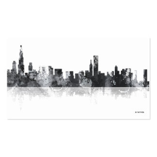 CHICAGO ILLINOIS SKYLINE PACK OF STANDARD BUSINESS CARDS