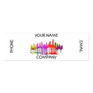 CHICAGO, ILLINOIS SKYLINE PUDDLES - PACK OF SKINNY BUSINESS CARDS