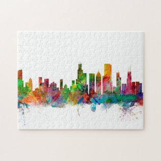 Chicago Illinois Skyline Puzzle
