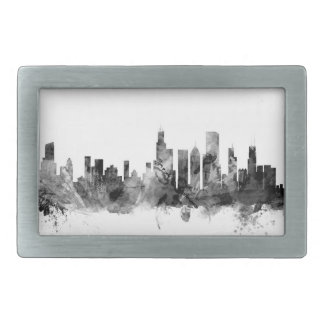 Chicago Illinois Skyline Rectangular Belt Buckles