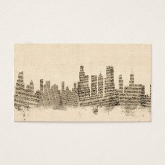 Chicago Illinois Skyline Sheet Music Cityscape