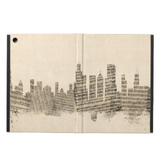 Chicago Illinois Skyline Sheet Music Cityscape iPad Air Case