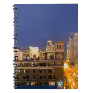 Chicago, Illinois, skyline shot from West Loop Spiral Notebook
