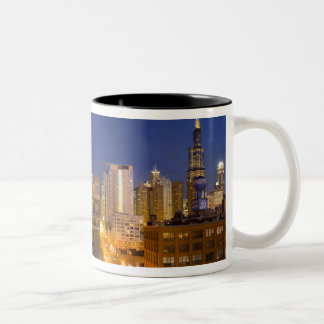 Chicago, Illinois, skyline shot from West Loop Two-Tone Coffee Mug