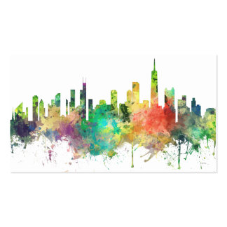 CHICAGO, ILLINOIS SKYLINE SP - PACK OF STANDARD BUSINESS CARDS