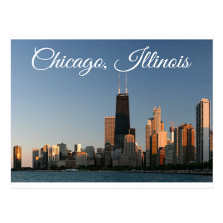 Chicago Illinois Skyline Sunrise Travel Post Card