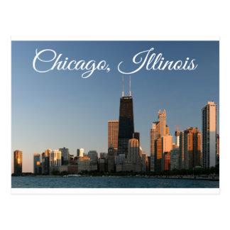 Chicago Illinois Skyline Sunrise Travel Post Card