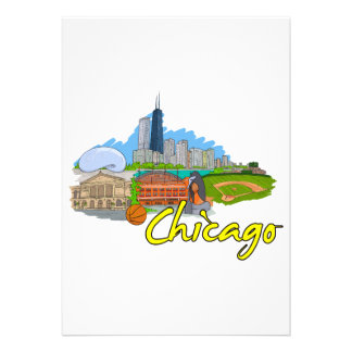 Chicago - Illinois - United States of America png Custom Announcements
