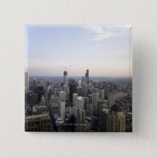 Chicago, Illinois, USA 3 15 Cm Square Badge