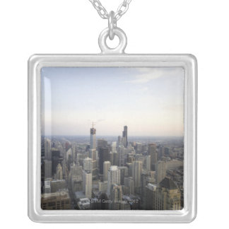 Chicago, Illinois, USA 3 Silver Plated Necklace