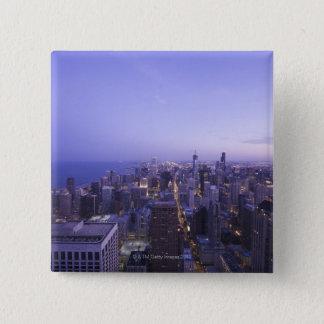 Chicago, Illinois, USA 4 15 Cm Square Badge