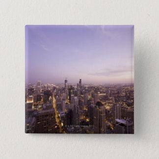 Chicago, Illinois, USA 5 15 Cm Square Badge