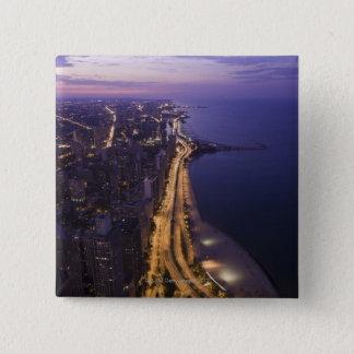 Chicago, Illinois, USA 6 15 Cm Square Badge