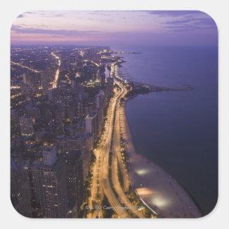 Chicago, Illinois, USA 6 Square Sticker
