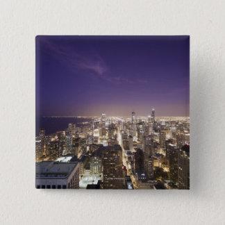 Chicago, Illinois, USA 7 15 Cm Square Badge