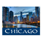 Chicago Illinois USA - Chicago Skyline At Sunset Postcard