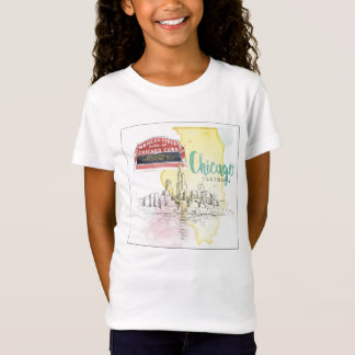 Chicago, Illinois | Watercolor Sketch T-Shirt