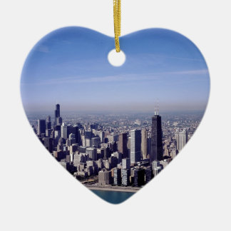 Chicago Illinois Windy City Park Buildings Destiny Christmas Ornament