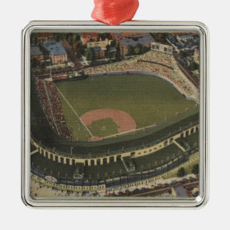 Chicago, Illinois - Wrigley Field Cubs Christmas Ornament