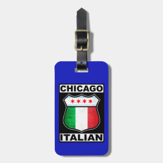 Chicago Italian American Luggage Tag Template