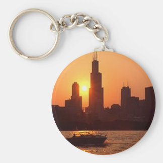 Chicago Journal 2 Basic Round Button Key Ring