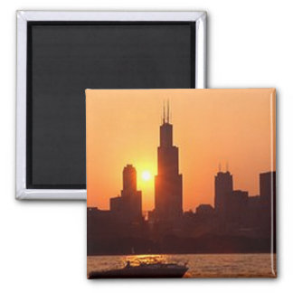 Chicago Journal 2 Square Magnet