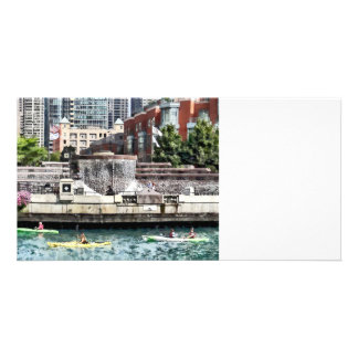 Chicago - Kayaking on the Chicago River Personalized Photo Card