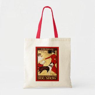 Chicago Kennel Club ~ Vintage Dog Show Budget Tote Bag