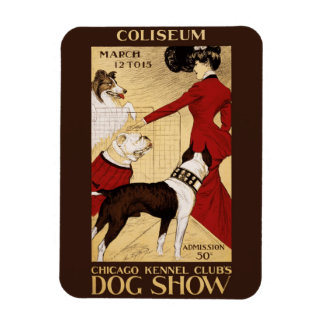 Chicago Kennel Club's Dog Show 1902 Rectangular Photo Magnet