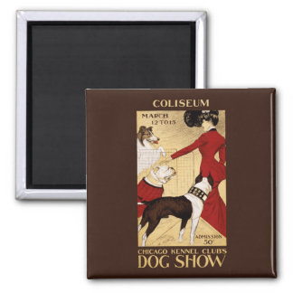 Chicago Kennel Club's Dog Show 1902 Square Magnet