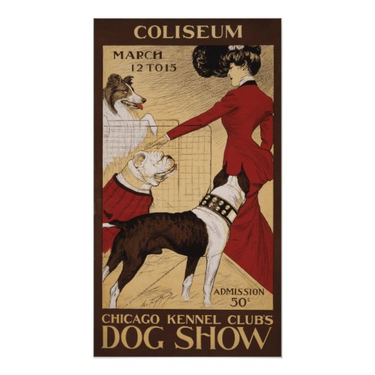Chicago Kennel Club's Dog Show 1902 Poster
