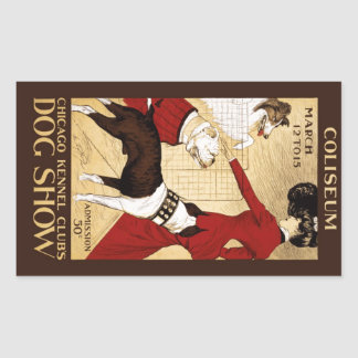 Chicago Kennel Club's Dog Show 1902 Rectangular Sticker