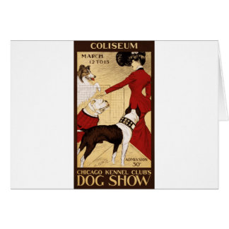 Chicago Kennel Club's Dog Show, Advertising Poster Greeting Card