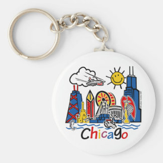 Chicago-KIDS-[Converted] Basic Round Button Key Ring