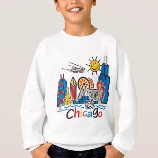 Chicago Kids Cute Skyline design Sweatshirt
