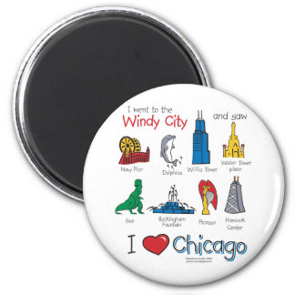 Chicago--kids-Icons-NEW-[Co 6 Cm Round Magnet