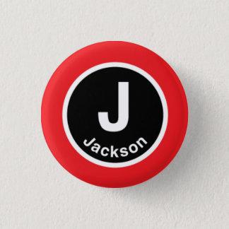 Chicago L Jackson Red Line 3 Cm Round Badge